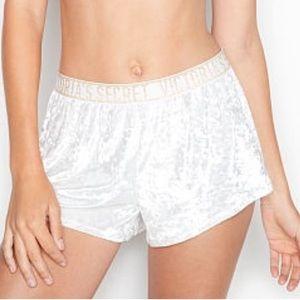 VICTORIA'S SECRET Logo Velvet Shorts NWT